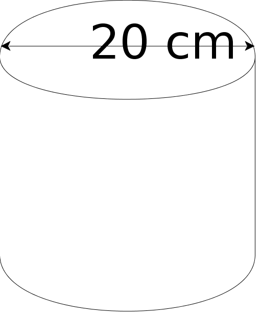 Cylinder with 20cm diameter